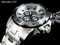 NEW Invicta Men 50mm Pro Diver Scuba Chronograph Stainless St. SILVER DIAL Watch