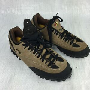North Wave Brown Soft Suede Six Eyelet Lace Snap Womens Cycling Sneakers Sz 41