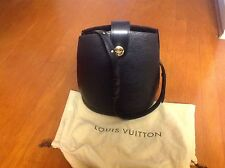Authentic LOUIS VUITTON Black Epi Leather Cluny Shoulder Bag
