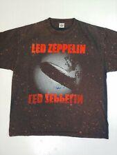 Led Zeppelin T-shirt Vintage Delta XL Bleach Splatter rock