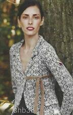 RARE Anthropologie 2007 RED Jacquard Jacket Cardigan Sweater Odd Molly 0 2 XS 1