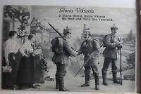 AK Deutschland Grußkarte - Gloria Viktoria Feldpost 1916 gebraucht #PG402