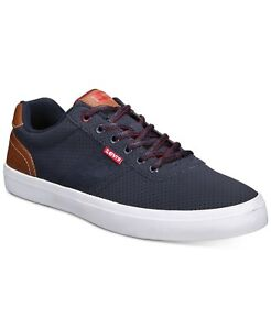 Levi's Men Low Top Lace Up Sneakers Miles Pin Perf PU NB 2