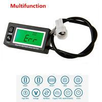 Multifunction Hour Meter Tachometer Voltmeter with Clock 2 & 4 Stroke Motocross