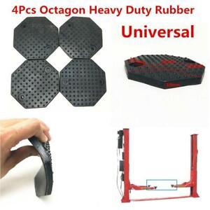 4Pcs Octagon 135*10mm Heavy Duty Rubber Arm Pads Car Auto Hoist Lift Accessories