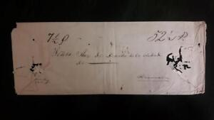 PERU official stampless court cover postmark LIMA to Huancavelica 1843 criminal