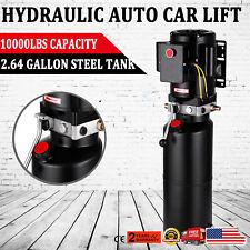 220v Portable Car Lift Hydraulic Power Lifting Unit Single Vehicle Hoist Pump 60