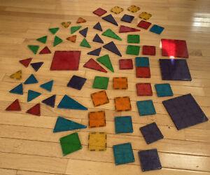 Magna Tiles Valtech Magnetic Building Tile Lot Set Large STEM Square Triangle