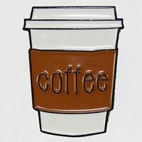 Coffee Cup Enamel Pin Badge Brooch Retro Retro Cafe Tea Food Aussie Seller