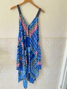 Umbrella Butterfly printed spaghetti strap dress Plus size 1X 2X 3X women summer