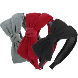 Girls Bling Hairband Big Bow Knot Shining Headband Sequin Headwear Head Dress