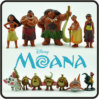12 pcs Disney Movie Moana Action Figure Dolls Princess Play Set Toy Cake Topper
