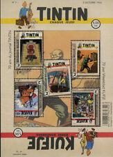 Weekblad Kuifje 75 jaar; Velletje 5 Postzegels PF