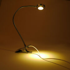 Light-dimmer LED Flexible Read Light Clip-on Bed Table Desk Lamp Silver