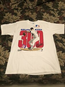RARE Vintage NWT 1990 Nolan Ryan Texas Rangers MLB 300 Wins T-Shirt (Men's XL)