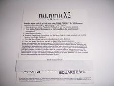 Final Fantasy X-2 for Sony VITA and PS3 -  Download Code DLC - Full Game