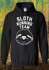 Sloth Running Team Hipster Novelty Men Women Unisex Top Sweatshirt Hoodie 1125