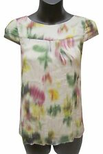 THEORY Silk/Spandex Watercolor Top, size P
