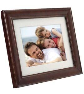 "Philips Digital PhotoFrame 10.4"" LCD Panel Mocha Brown Wood Frame 2GB"
