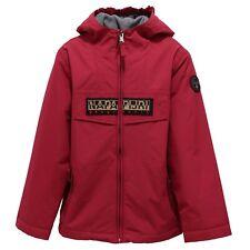1368Z giubbotto bimba GIRL NAPAPIJRI BLOOM fleece fabric inside fuxia jacket