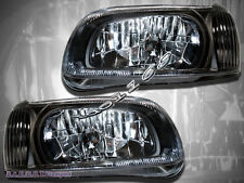 For 00-01 Nissan Maxima JDM Black Crystal Housing Headlights Pair New