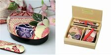 Lunch Box Gift Set Cherry Blossoms Bento Chopsticks and  KInchaku Carry Bag