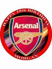 "ARSENAL FC  PERSONALIZED 7.5"" CIRCLE ICING CAKE TOPPER"