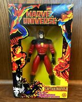 "Captain Marvel Vintage Universe 10"" Action Figure New 1997 Toybiz 90s X-Men"