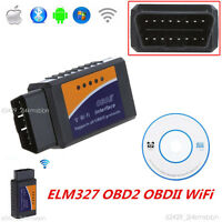 WiFi ELM327 OBD2 OBDII Car Diagnostic Scanner Tool For PC iPhone IOS and Android