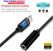 USB C⚡zu AUX Buchse Audio Adapter 3,5mm Klinke Stecker Kabel Kopfhörer Headset✔️