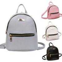 Women's PU Leather Backpack School Rucksack College Shoulder Satchel Travel Bag