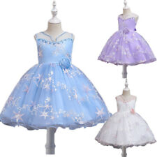 Flower Girl Dress Kids Princess Tutu Tulle Gown Bridesmaid Dress Pageant Costume