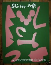 Shirley JAFFE : Affiche Originale Sérigraphie Flaine