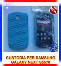 Custodia + Pellicola BACK COVER MESH AZZURRA PER SAMSUNG GALAXY NEXT S5570 (B4)