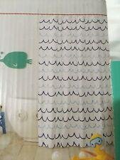 Pillowfort Wave Fabric Shower Curtain kids bath nautical nwop #808
