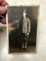 WW1 US Miltiary Soldier Photo Postcard - Named
