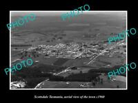OLD LARGE HISTORIC PHOTO OF SCOTTSDALE TASMANIA AERIAL VIEW OF THE TOWN c1960