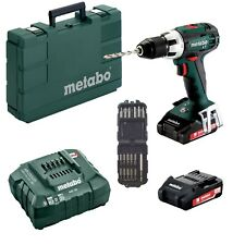 Metabo Perceuse Batterie BS 18 Lt + 2 Batteries+ASC55+Valise+17tlg Makita