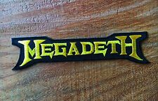 MEGADETH Sew Iron On Patch Rock Band Heavy Thrash Metal Logo Music Embroidered