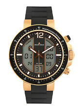 Jacques Lemans Milano Black Dial Analog-Digital Mens Watch 1-1726D