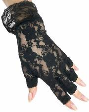 Fun World 90170 Black Fingerless Lace Glove
