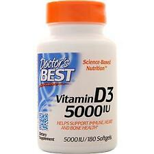 Doctor's Best Vitamin D3 (5000IU)  180 sgels