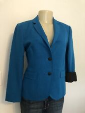 Rag & Bone New York Blue Textured Linen/Cotton Runway Blazer Jacket Coat Size 6