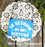 DecoWords Mini Wood Sign IN SESSION Do Not Disturb *Fits Doorknob* Massage USA