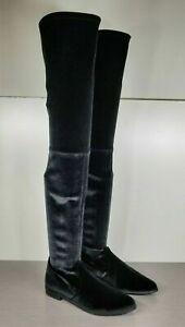 Stuart Weitzman Leggylady Over the Knee Boot, Black Velvet, Womens Size 8.5 M