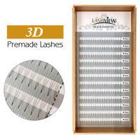 Lashview Pre Made Fan Eyelash Extensions 3D Volume .05/.07/.10 Premade Lashes