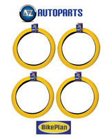 "4x Bikeplan - BMX Bike Bicycle Tyres Retro Style 20"" x 2.0"" Yellow"
