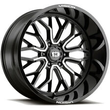 4 Vision 402 Riot 20x12 6x55 51mm Blackmachined Wheels Rims 20 Inch Fits More Than One Vehicle