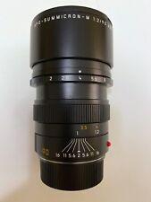 Leica APO-SUMMICRON-M Asph 90mm f/2 Aspherical Lens (Black) Mint w/ filter