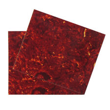 Us Fleor 2pcs Acoustic Guitar Pickguard Blank Sheet Scratch Plate Red Tortoise